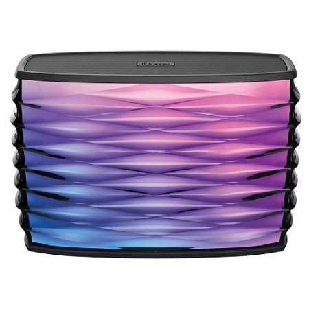 Splashproof Color Changing Portable Bluetooth Stereo Speaker with Built-in USB Power