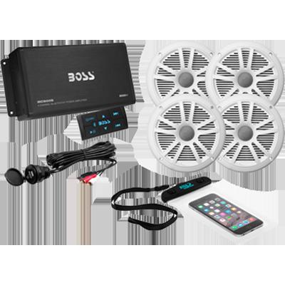 Boss Audio ASK904B.64 Bluetooth Amplifier, 4 Channel w/4 Spkrs