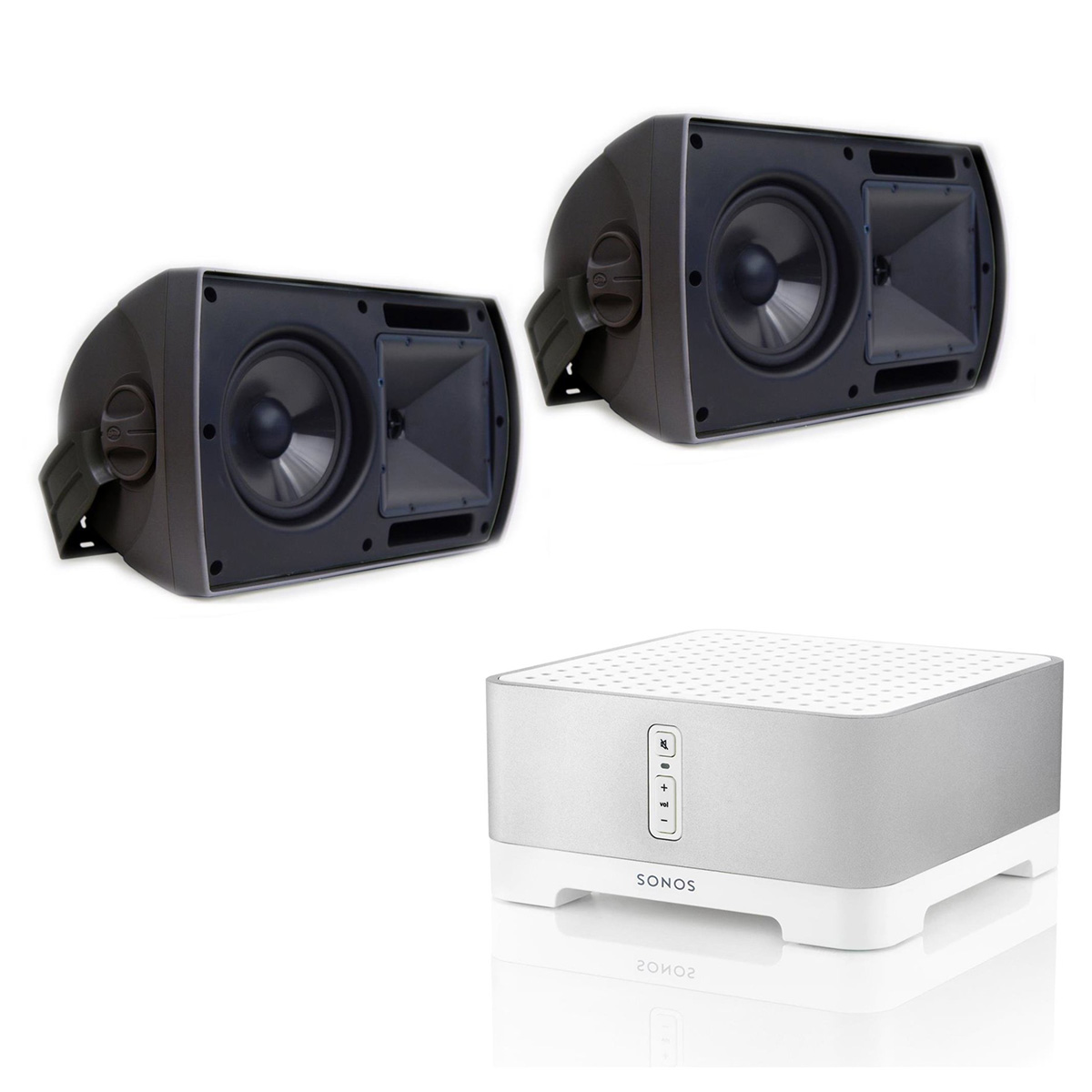 """Sonos CONNECT:AMP Wireless Hi-Fi Player with Klipsch AW-650 6.5"""" Reference Series Outdoor Loudspeakers Pair (Black) by Sonos"""