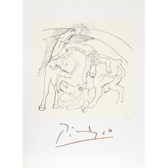 Pablo Picasso 47597 Taureau et Cheval, Lithograph on Paper 29 In. x 22 In. - Black, White - image 1 of 1