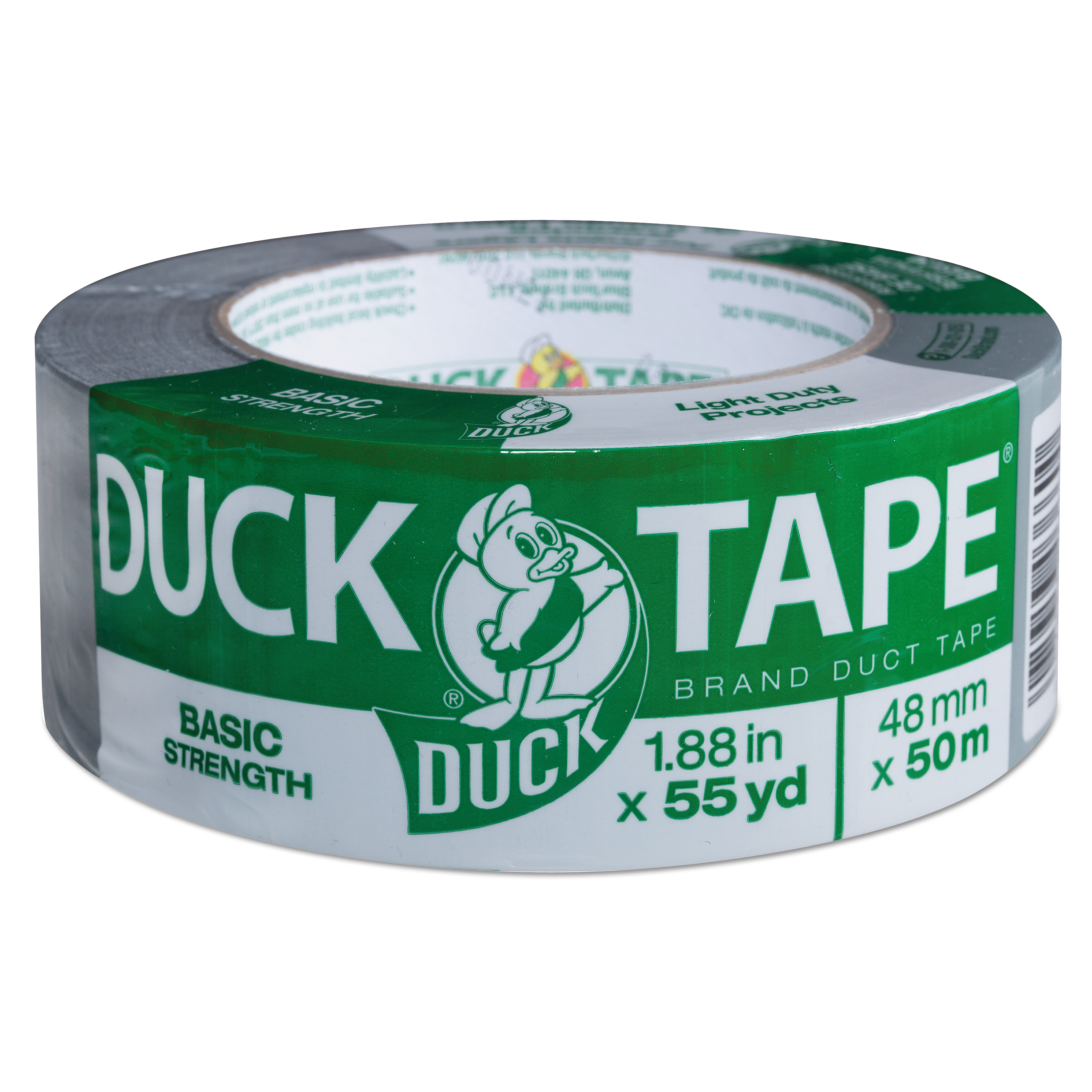 """Duck Tape Basic Strength Duct Tape, Silver, 1.88"""" x 55 yards"""