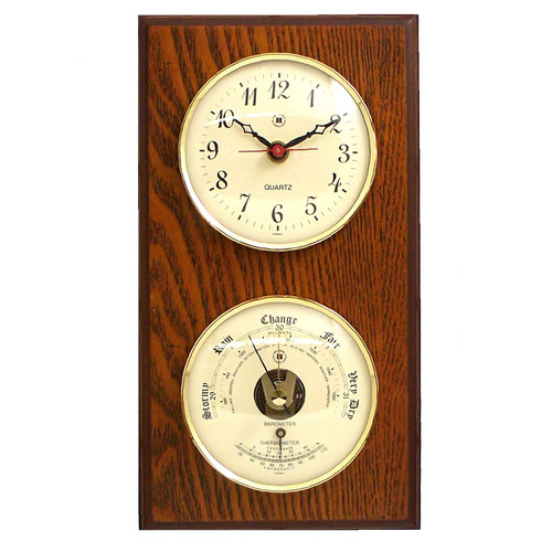 Breakwater Bay Diaz Wall Clock with Barometer and Thermometer