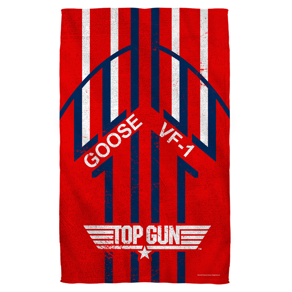 Top Gun Goose Golf Towel W Grommet White 16X24