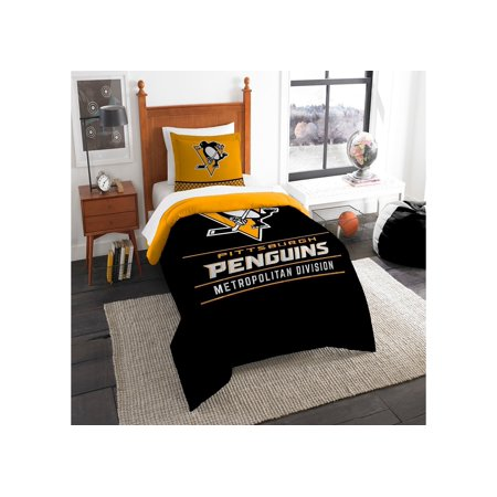 Nhl Sham (Pittsburgh Penguins The Northwest Company NHL Draft Twin Comforter Set)