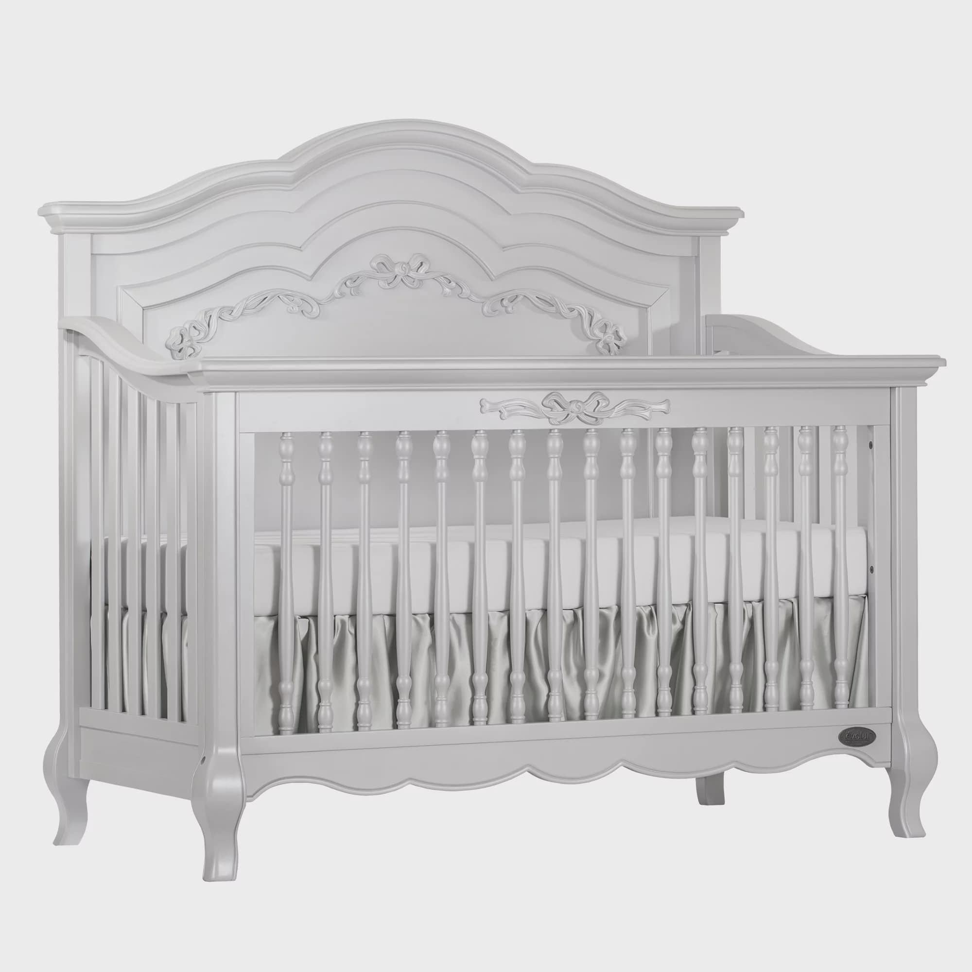 Evolur Aurora 5 in 1 Convertible Crib Frost by Evolur