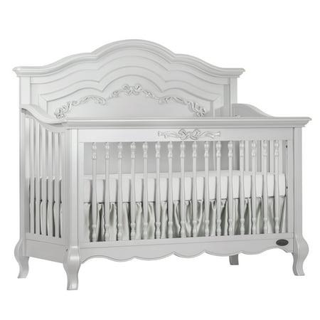 (Evolur Aurora 5-in-1 Convertible Crib, Akoya Grey Pearl)
