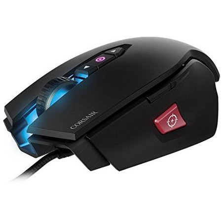 Corsair M65 Pro Rgb Fps Gaming Mouse - Black - Optical - Cable - Usb 2.0 - 12000 Dpi - Computer - Scroll Wheel - 8 Button (s) (ch-9300011-na)