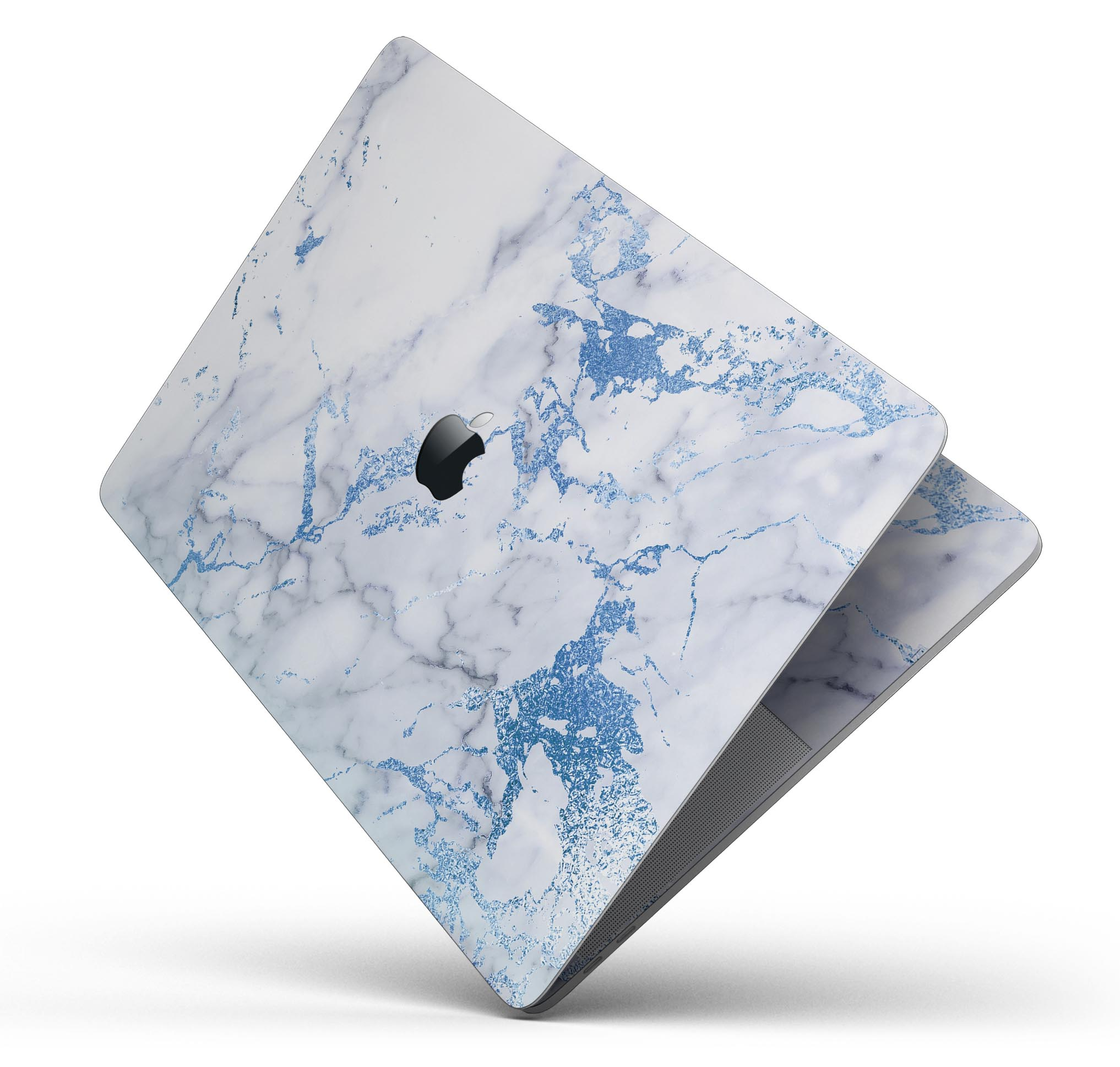 Premium Protective Decal Skin-Kit for the Apple Credit Card Modern Marble Aqua Mix V8