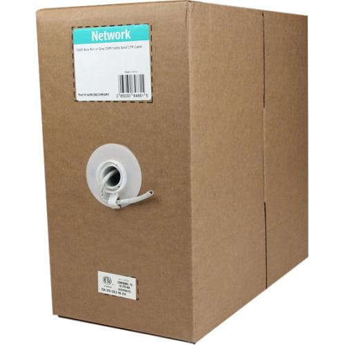 StarTech.com 1000' Bulk Roll of Gray CMR Cat5e Solid UTP Cable