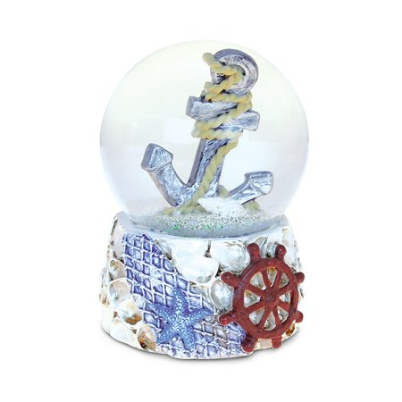 Nautical Décor Snow Globe Shells With Anchor (65mm) (Snowglobe Stopper)