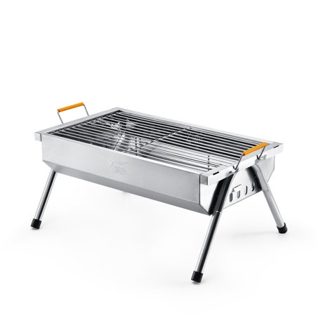 Moaere Foldable Charcoal Bbq Grill Stainless Steel Portable Barbeque For Picnic Camping Cooking