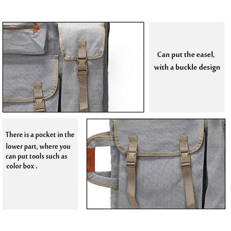 Art Portfolio Bag Case Backpack Drawing Board Shoulder Bag with Zipper Shoulder Straps for Artist Painter Students Artwork - image 3 de 8