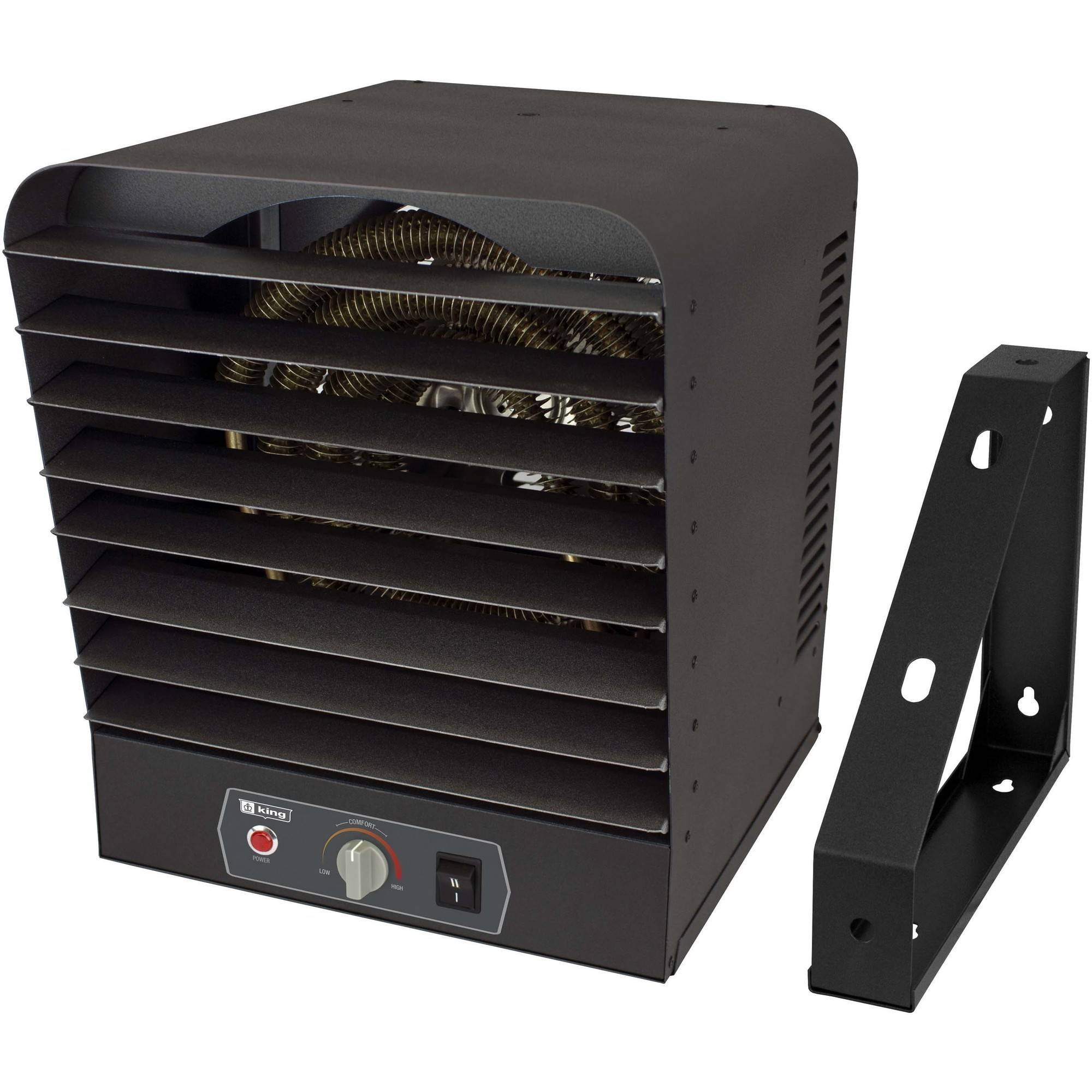 King GH2410TB 240 Volt 10000 Watt Garage Heater, Gray