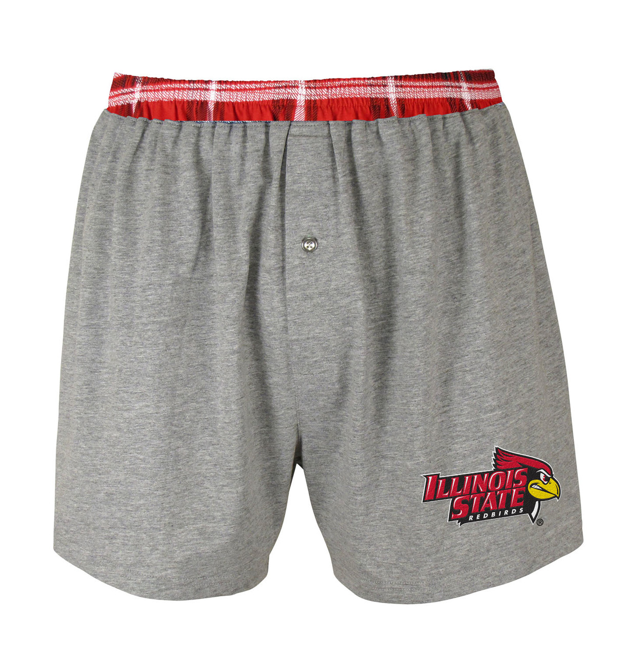 Illinois State Redbirds NCAA Millenium Solid Boxer  - Gray