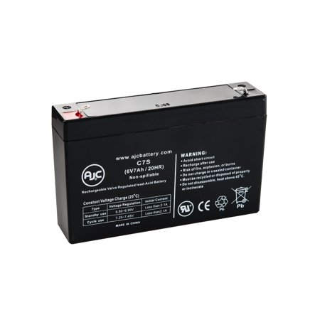 Leoch DJW6-7.2, DJW 6-7.2 6V 7Ah UPS Battery - This is an AJC Brand Replacement