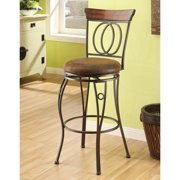 Acme Barcelona Swivel Bar Chair, Set of 2, Chocolate