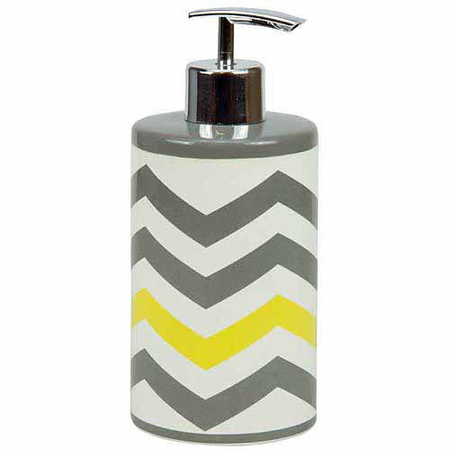 Mainstays Chevron Lotion Pump, Yellow by Jay Franco & Sons
