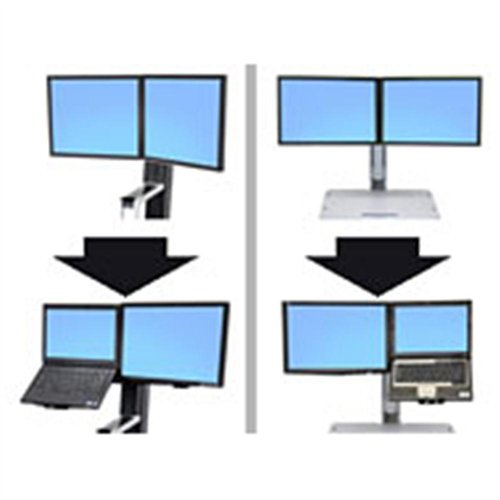 Ergotron 97-617 Workfit Convert-to-lcd And Stnd Laptop Kit From Dual Displays