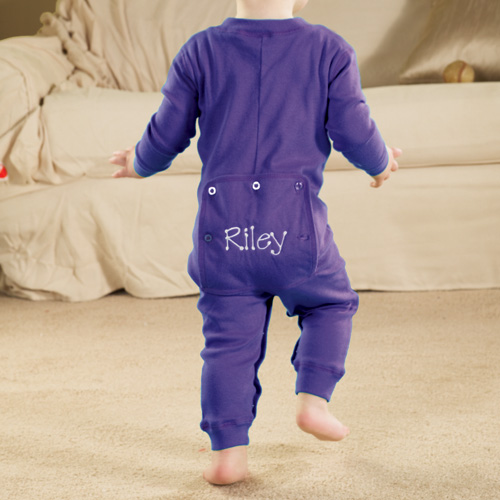 Personalized Baby Long Johns, Purple