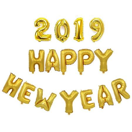 Party Balloon Setjustdolife Decorative 2019 Happy New Year Number