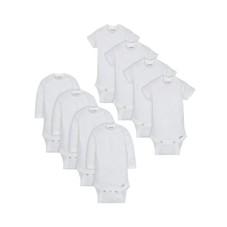 Onesies Brand Bodysuit Variety Short Sleeve and Long Sleeve, 8pk Bundle (Baby Boy or Baby Girl Unisex) - Gerls And Boys