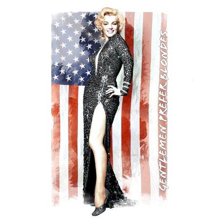 Marilyn Monroe Gentleman Prefer Blondes Queen Size Luxury Royal Plush Blanket   Usa Flag  Usa Fast Shipping Brand Www Embellishmentworld Com