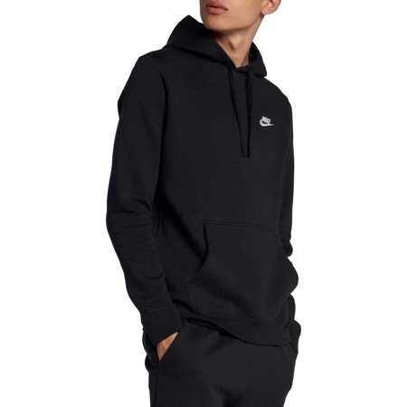 Nike Men's Club Fleece Pullover Hoodie, Black, L