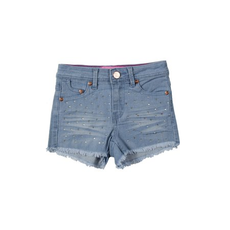 Girls' Stretch 5 Pockets Premium Embellished Stretch Denim Shorts