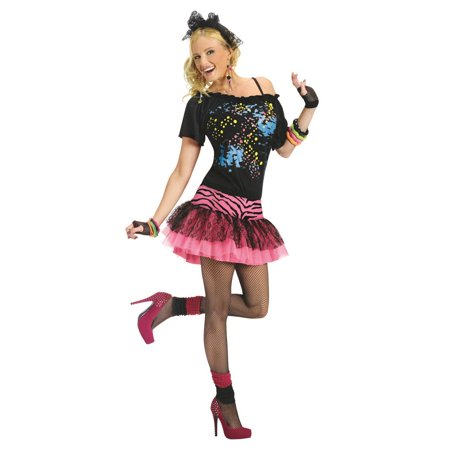 80s Pop Party Adult Halloween - Slumber Party Costume For Halloween