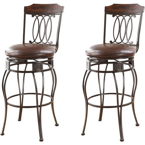 Acme Argentina Swivel Bar Chair, Set of 2, Espresso