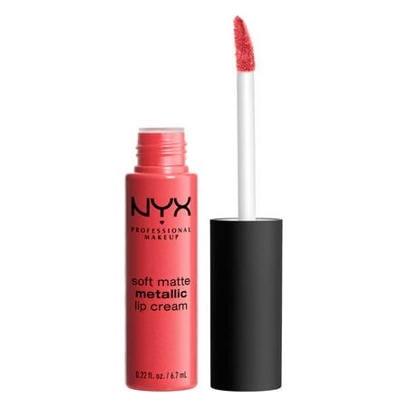 NYX Professional Makeup Soft Matte Metallic Lip Cream, Manila