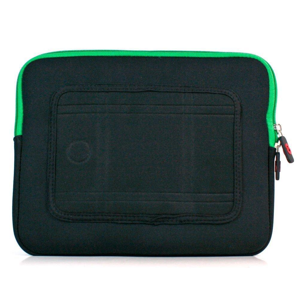 kroo mas (green) neoprene sleeve for 9 tablets/ ipad 3 / ipad 2
