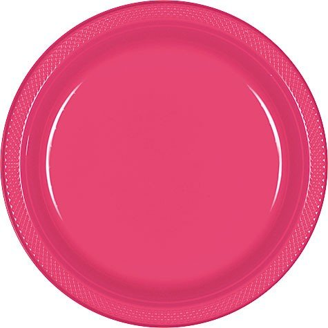 Round Plastic Plates | 20ct (7 inch, Yellow Sunshine), 20 Plates in each package By Amscan