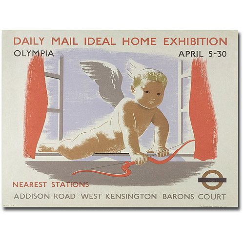 "Trademark Art ""Home Exibition at Kensington Olympia, 1938"" Canvas Wall Art"