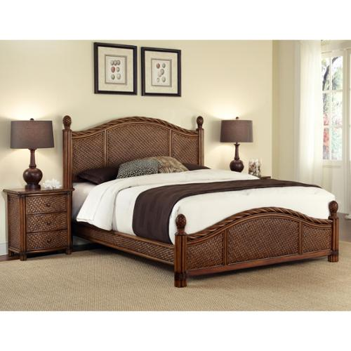 Home Styles  Marco Island Queen Bed/ Night Stand
