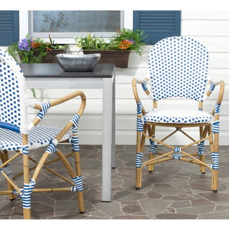 Safavieh Hooper Indoor Outdoor Stacking Arm Chair  Set Of 2
