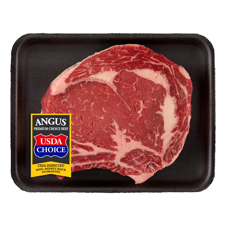 Beef Choice Angus Ribeye Steak Bone In 0.63-1.45 lb
