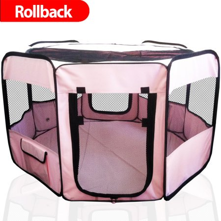 ToysOpoly Portable Pet Playpen Puppy Kennel - Best for Small and Medium Size Dogs and Cats - Simple Folding Design for Easy Storage (Best Small Indoor Dogs)