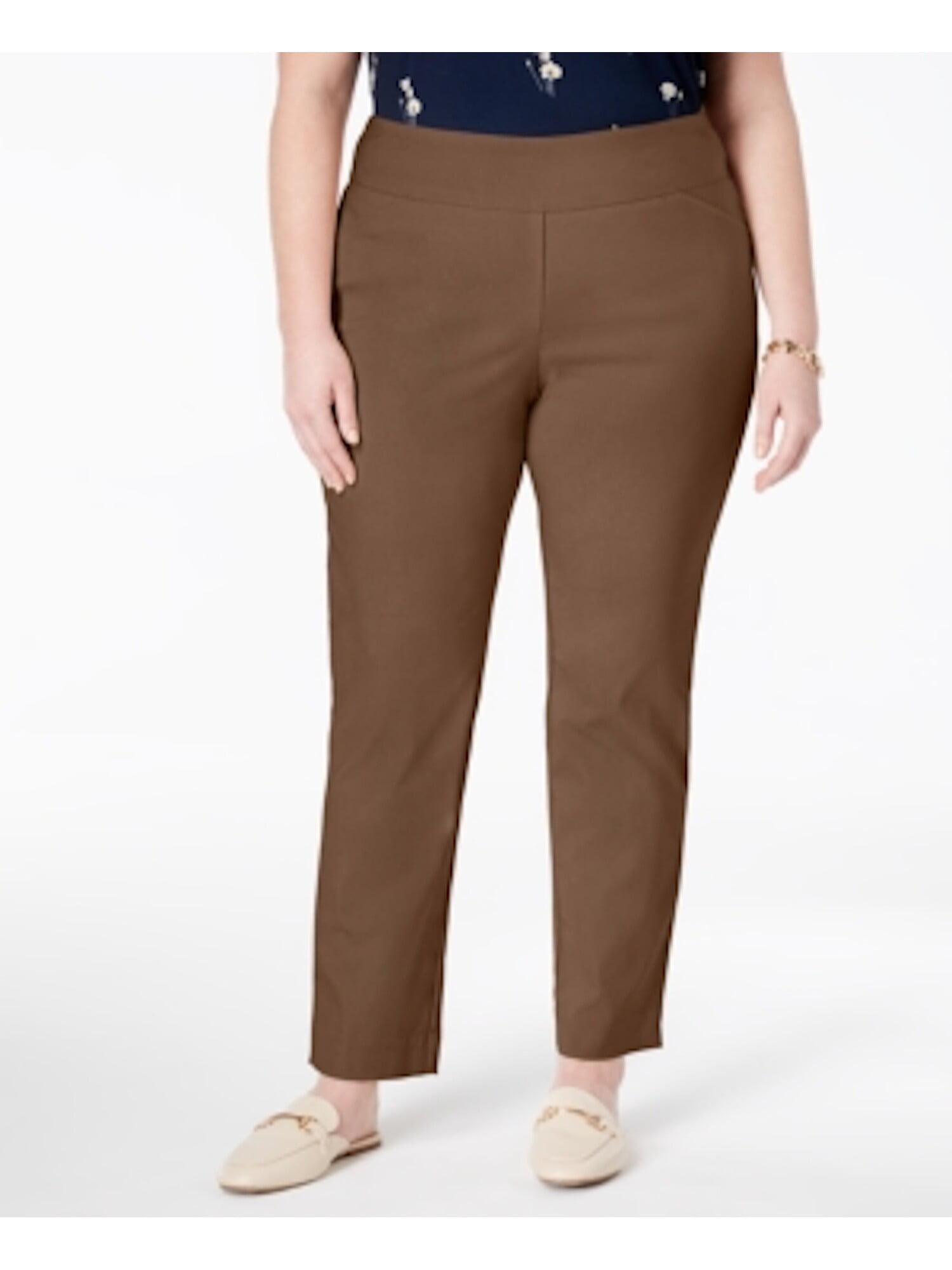 Charter Club Women/'s Size 4P Black Sedona Dust Solid Ankle Pants Slim-Leg $69 J