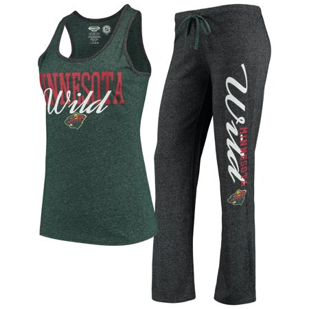 Minnesota Wild Concepts Sport Women s Spar Top   Pants Sleep Set -  Charcoal Green - Walmart.com 7036b691e