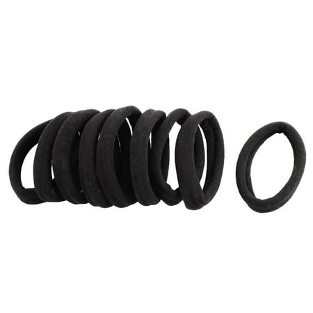 Rubber Hair Bands Elastic Ponytail Holders Black 10 Pcs for Ladies Women - image 2 of 2