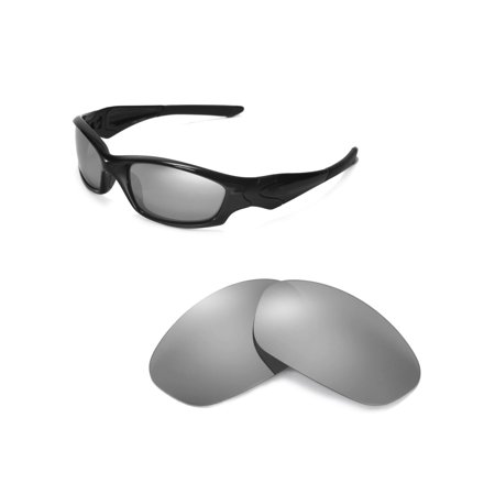 84353770f0 Walleva - Walleva Titanium Polarized Replacement Lenses for Oakley Straight  Jacket Sunglasses - Walmart.com