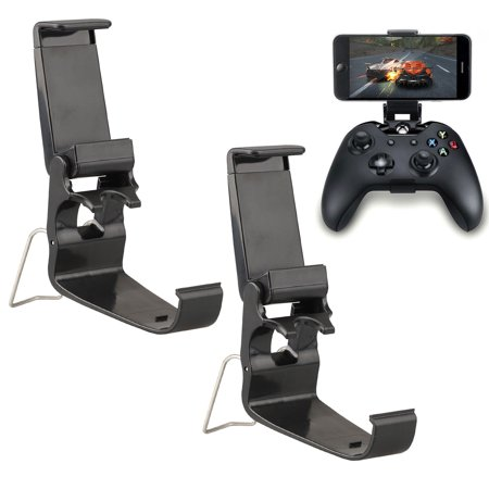 EEEkit Customized Controller Foldable Mobile Phone Clip Compatible with Xbox One/Steelseries Nimbus/Steam Controllers, Smartphone Clamp Holder Work with iPhone/Samsung/Sony/LG/Huawei ()