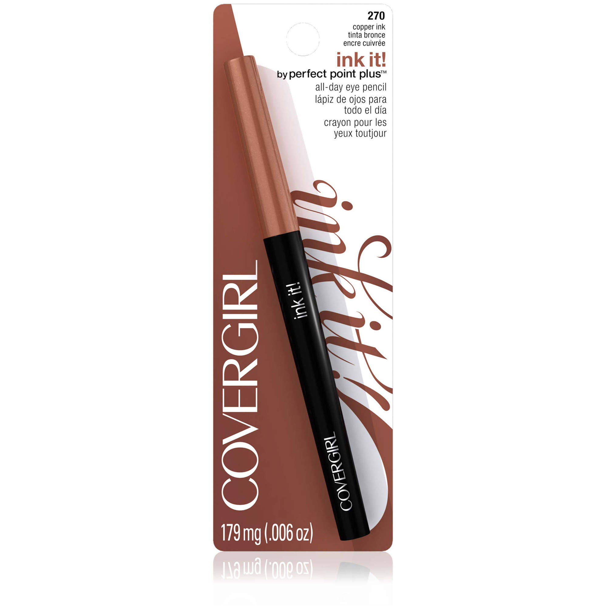 COVERGIRL Ink It! by Perfect Point Plus Eyeliner, 270 Copper Ink, 0.006 oz