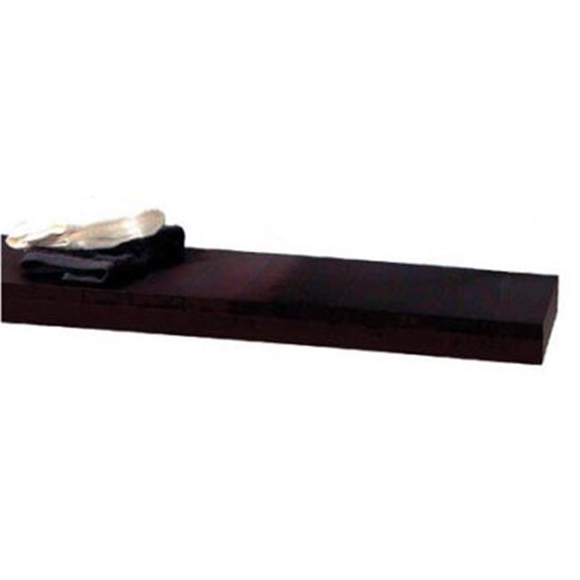 Whitehaus Collection  AMMT06 23. 62 inch Antonio Miro short wall mount iroko wood shelf- Ebony Wood