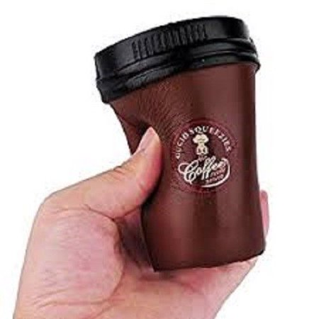 Jumbo Coffee - BROWN COFFEE CUP SQUISHY TOY SUPER SLOW RISING SQUEEZE SCENTED SQUISHIES