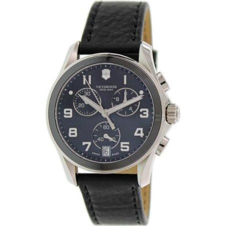 Swiss Army Chrono Classic Quartz Stainless Steel Mens Watch Calendar 241545