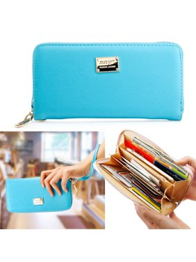Product Image Fashion Lady Full Zipper Faux Leather Women Wallet Clutch Long Purse Card Holder Handbag