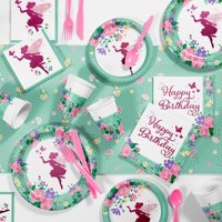 Floral Fairy Sparkle Birthday Party Supplies Kit