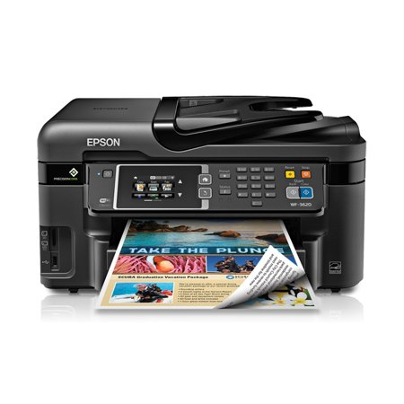 Epson Workforce 3620 Wireless All In One Inkjet Printer  Copy Fax Print Scan